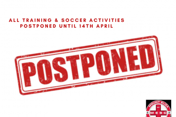 Postponement of pre-season training and all soccer activities